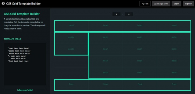 CSS Grid Template Builder