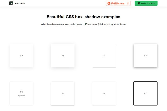 Beautiful CSS box-shadow examples